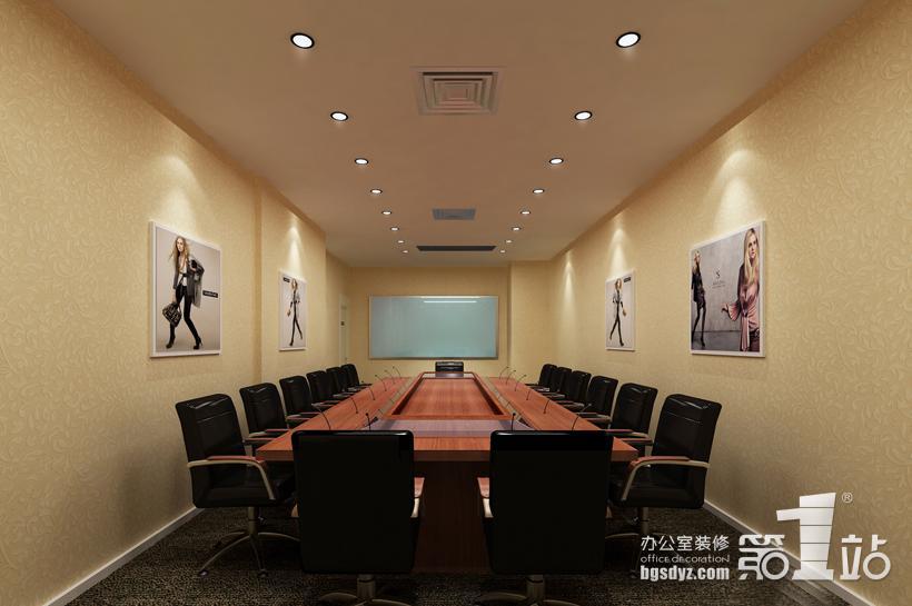 """时代(广州)办公室装修会议室…  前台采用的是""""开放式""""装修设计手法"""