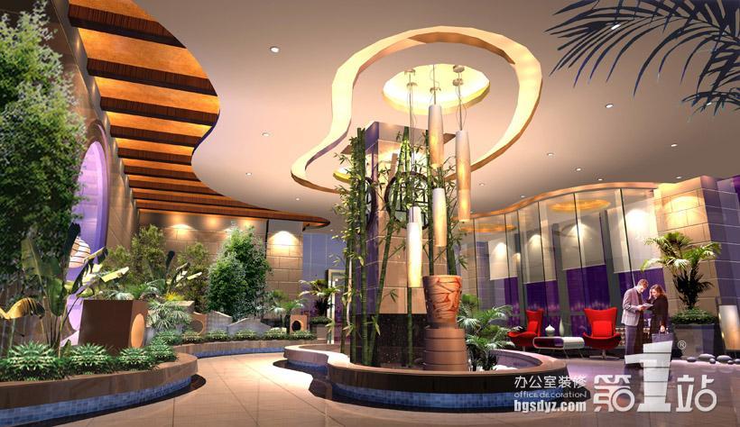 旅游公司裝修案例——廣州市國際旅游交易中心裝修效果圖