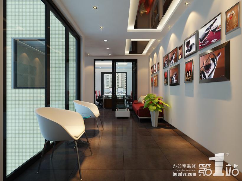 红酒公司办公室装修休闲区的效果图