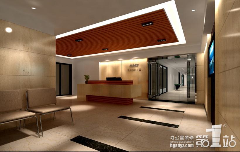 花都国光工业园(美加音响)办公室装修前厅效果图