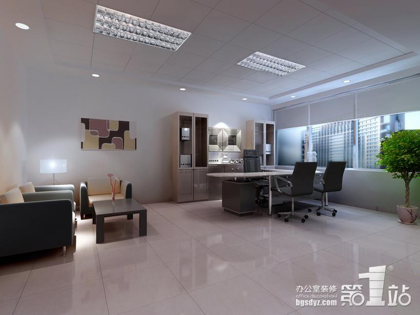 女性网站公司的办公室装修总经理室效果图