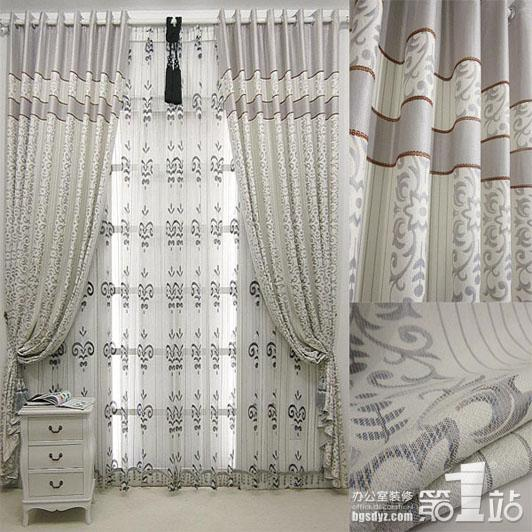 2011新款窗帘 【银色畅想】提花/欧式/客厅/窗帘