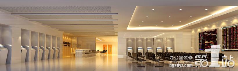 广州信达证券有限公司办公室装修接待大厅效果图