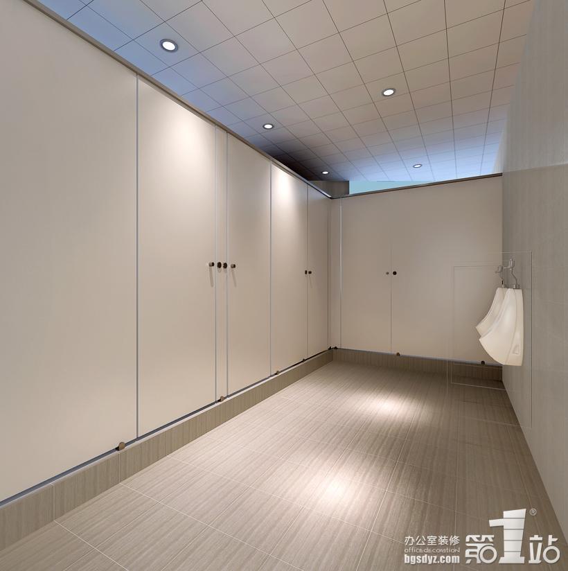 办公室装修洗手间效果图