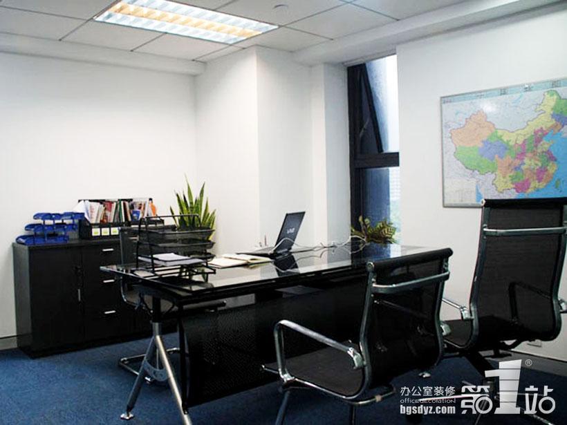 办公室装修经理室实景图