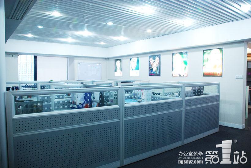 广州莉都化妆品有限公司办公室装修办公区实景图