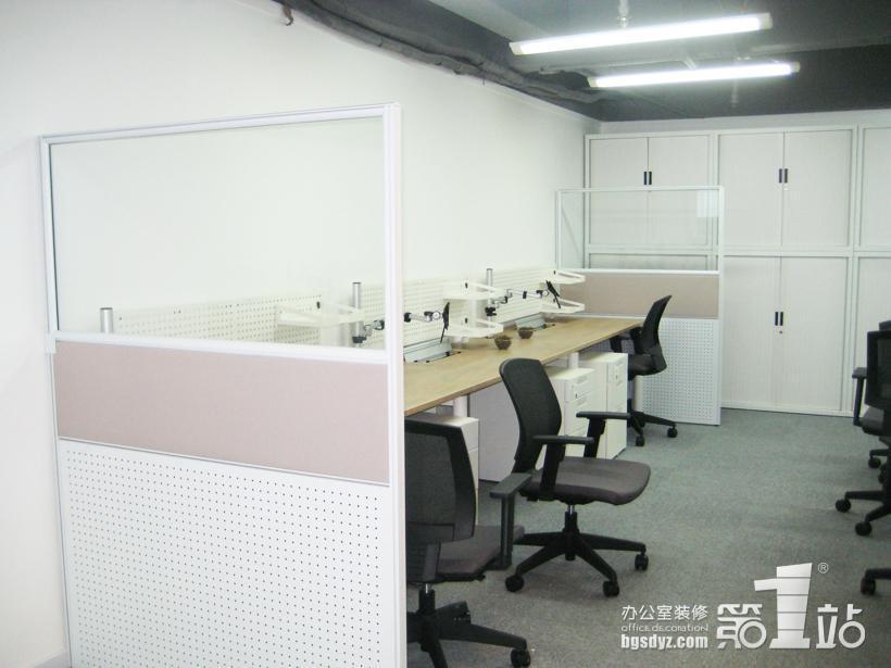 办公室装修办公区实景图