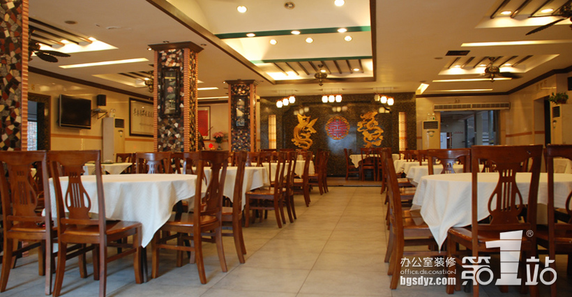 餐厅装修 永坚饭店大厅实景图2