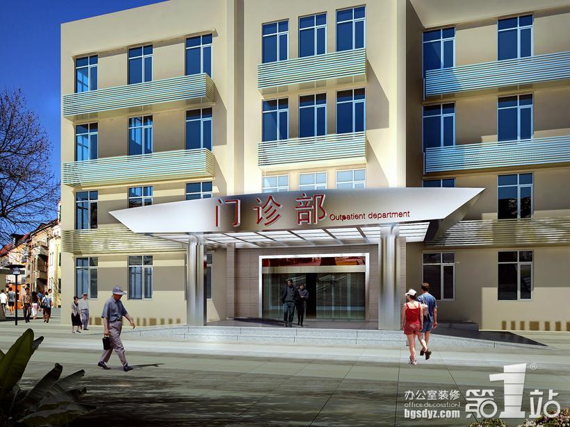 广州亿仁医院装修门头效果图-广州亿仁医院装修案例高清图片
