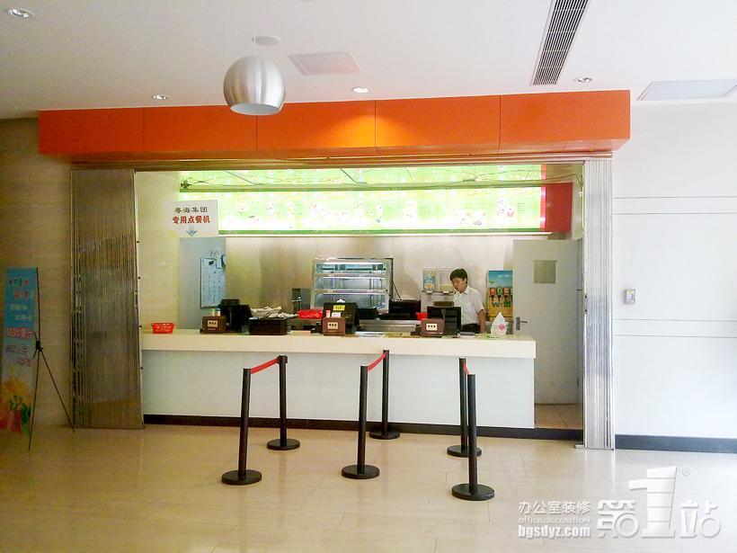 尝在心中式快餐厅装修收银台实景图图片