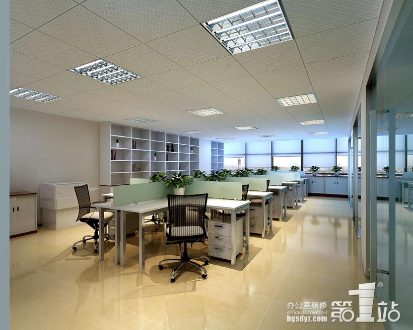 裕顺贸易办公室装修办公区效果图