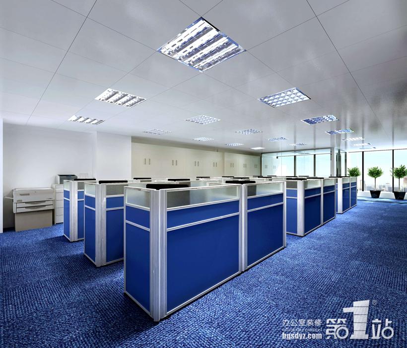 恒海国际贸易公司办公室装修案例 | 办公室装修效果图