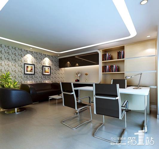 红木家具办公室设计效果图