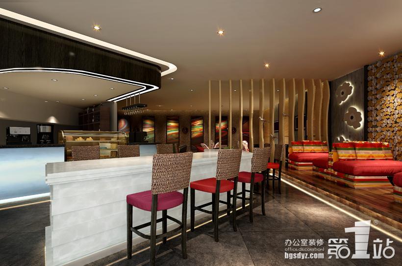 前臺效…  咖啡館裝修設計休閑區效果圖跟第三張的