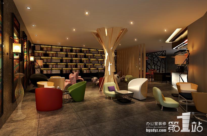 太平洋咖啡馆装修设计休闲区效果图