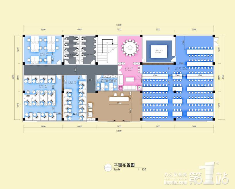 佛山市汇科纺织有限公司办公室装修平面图一层高清图片