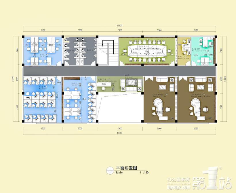 佛山市汇科纺织有限公司办公室装修平面图二层高清图片