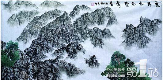 办公室装饰画之山水画图片