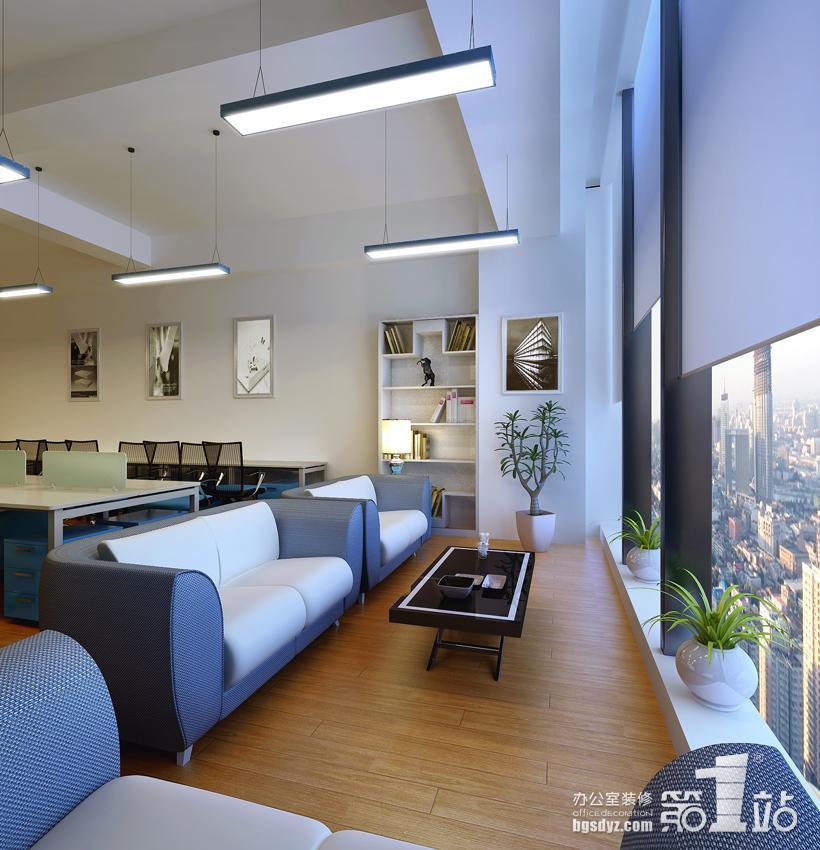 恬静温馨,适合休闲交流; 办公区装修设计效果图宽阔明亮,井然有序,是