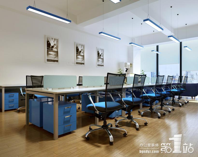 办公室装修办公区效果图-睡眠一百分办公室装修案例 办公室装修效果图