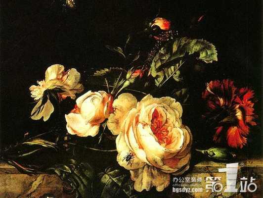 欧洲古典油画带有鲜明的年代气息,高贵,雅致,办公室装修设计时在室内