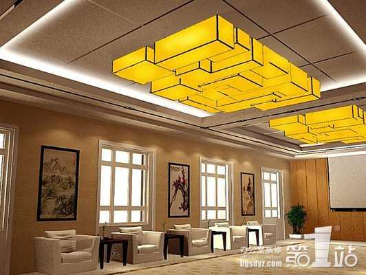 中式吊灯玩转办公室装修中式风高清图片