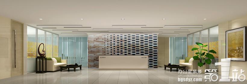 办公室装修大厅效果图