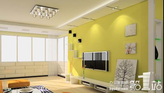 办公室室装修影视墙效果图欣赏高清图片