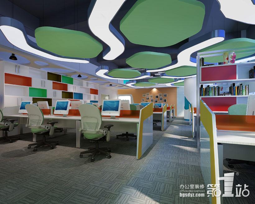 广州起点零久服饰有限公司办公室装修效果图 服饰公司 办