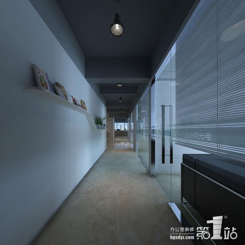 创锐特光电技术办公室装修过道效果图