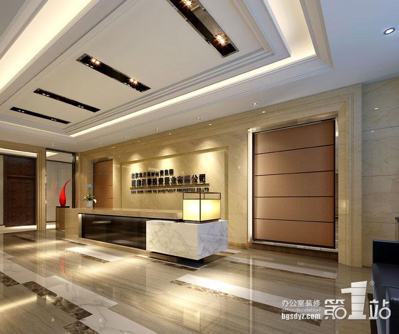 北方泓泰南康置业办公室装修前台效果图