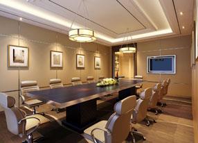 北方泓泰南康置业办公室装修会议室效果图