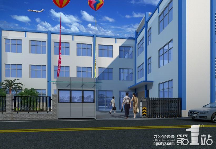 煜勋服饰办公室装修大门效果图-江西省煜勋服装公司办公室设计方案