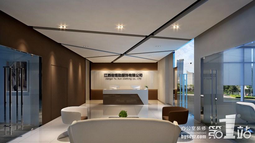 江西省煜勋服装公司办公室设计方案|办公室装修效果图