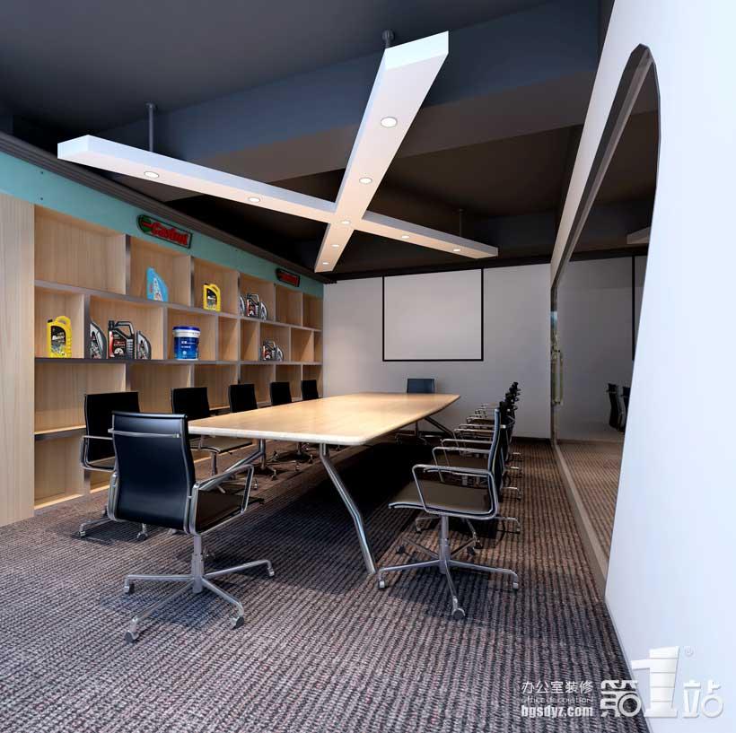 启星贸易办公室装修会议室效果图