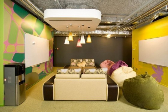 装修设计欣赏:莫斯科谷歌新办公室装修设计