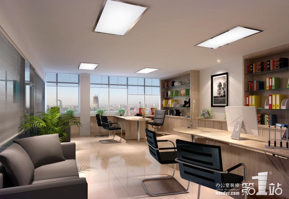 广州佳奥服饰公司办公室装修客户接待室效果图