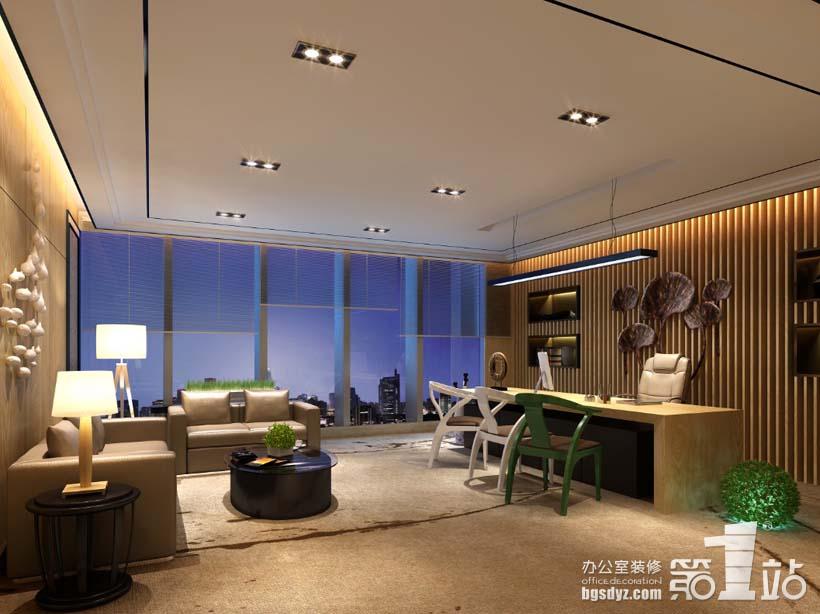 廣州創基房地產投資公司經理室裝修設計效果圖