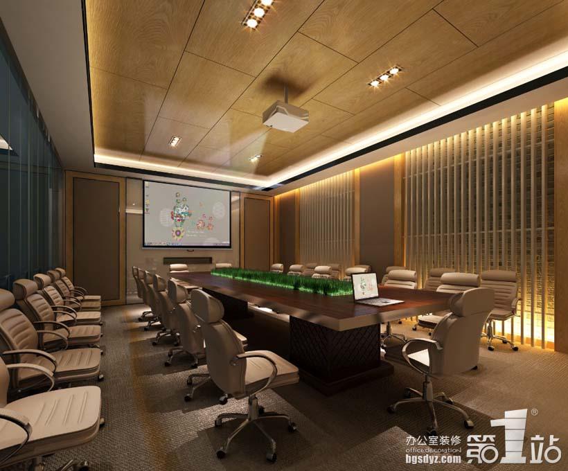 广州创基房地产投资公司会议室装修设计效果图