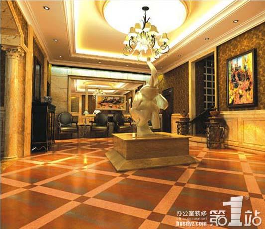 中式风格或者欧式古典的办公室装修工程经常用