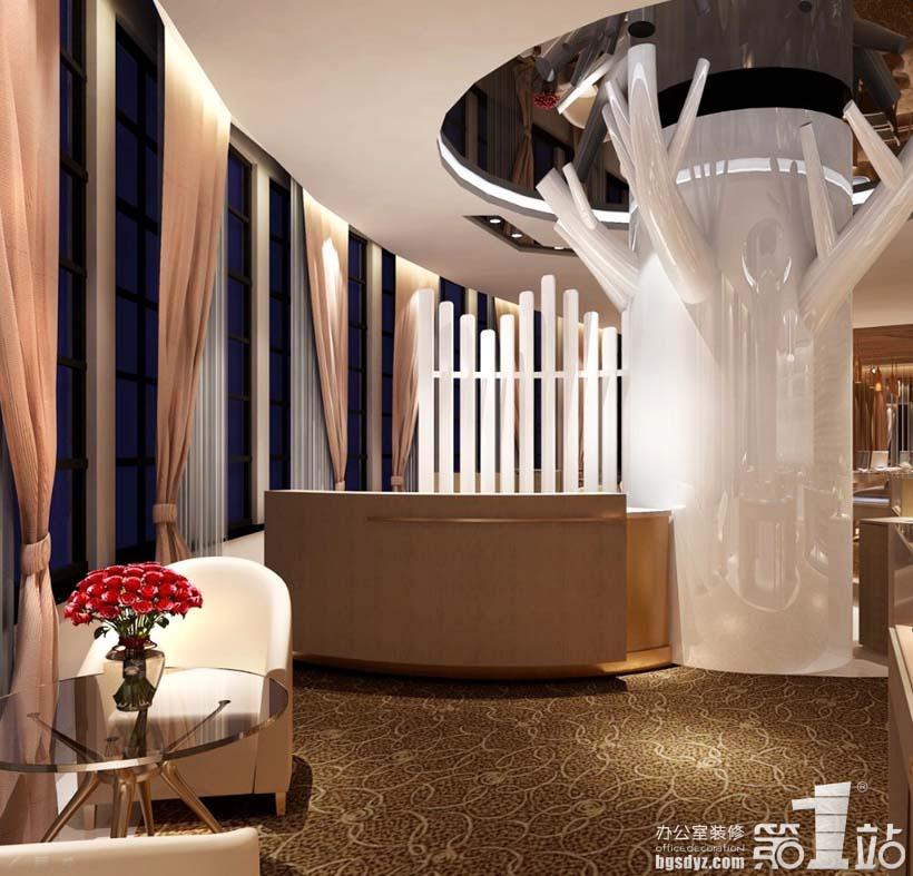 钻石小鸟商铺装修办公区装修效果图 上海铂利钻石有限公司高清图片