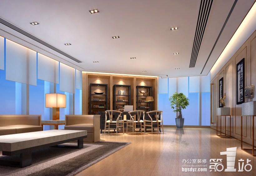 广田丰办公室装修设计——总经理室效果图