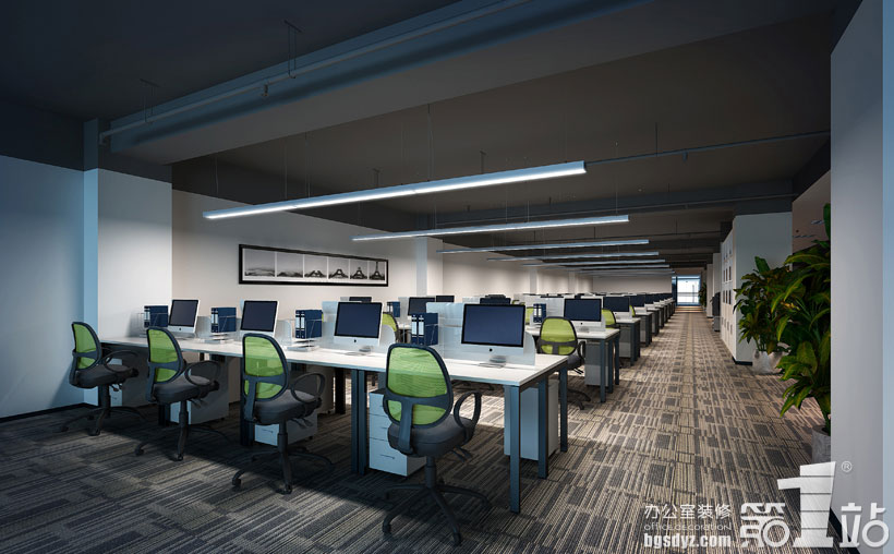 广州彩创网络技术办公室装修案例