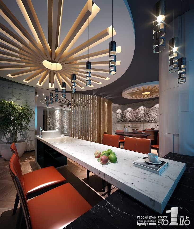 澳雪国际办公室装修设计—休闲区装修效果图