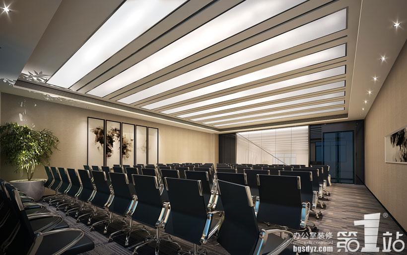 澳雪国际办公室装修设计—大会议室装修效果图