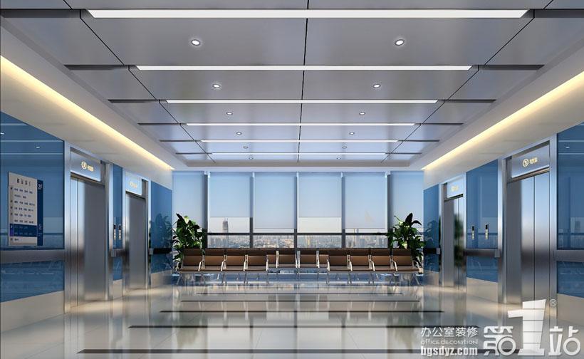广东省第二人民医院设计电梯厅装修效果图-广东省第二人民医院设计