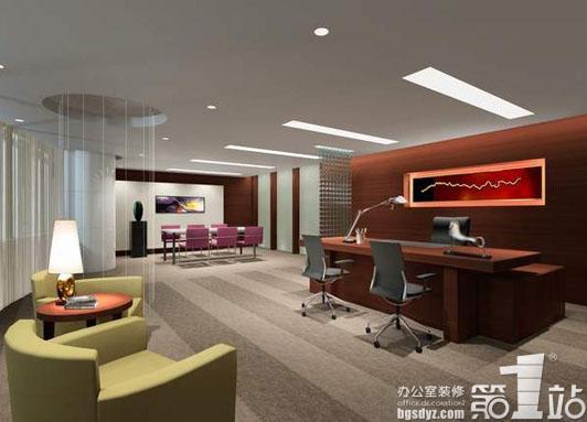 办公室装修的天花板的安装