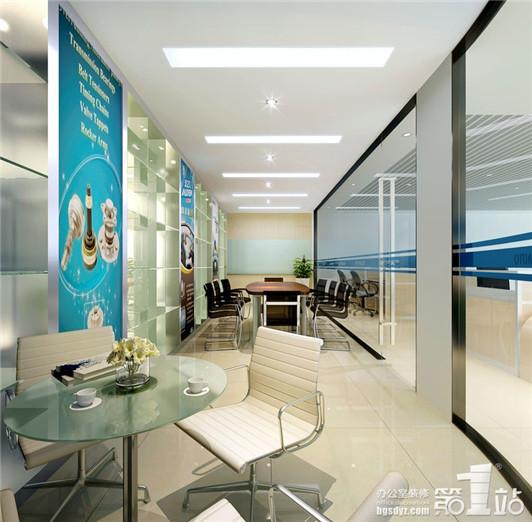 坦途汽車配件現代風格辦公室裝修設計會議室效果圖