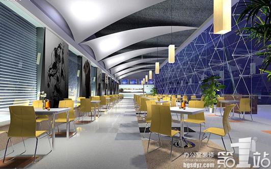 清雅风格西餐厅装修设计会餐部效果图