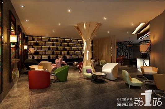 太平洋咖啡館設計休閑區效果圖